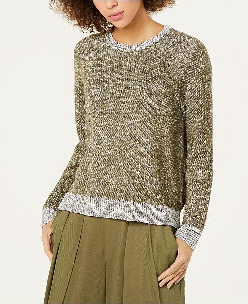 d6cb124f2b99 Eileen Fisher Organic Linen Cotton Crewneck Sweater   Reviews ...