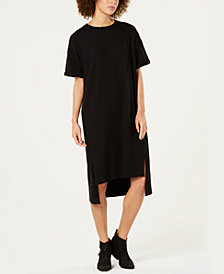 Eileen Fisher Organic Cotton High-Low T-Shirt Dress