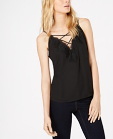 Bar III Lace-Trim Camisole, Created for Macy's