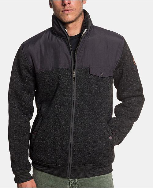 76f871d6a8 Quiksilver Men's Keller Mix Full-Zip Jacket & Reviews - Hoodies ...