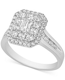 Diamond Cluster Engagement Ring (1-1/2 ct. t.w.) in 14k White Gold