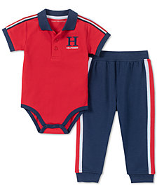 Tommy Hilfiger Baby Boys 2-Pc. Polo Shirt Bodysuit & Jogger Pants Set