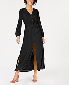 Bar III Smocked-Waist Maxi Dress, Created for Macy's