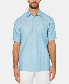 Cubavera Men's Linen Blend Pintucked Shirt