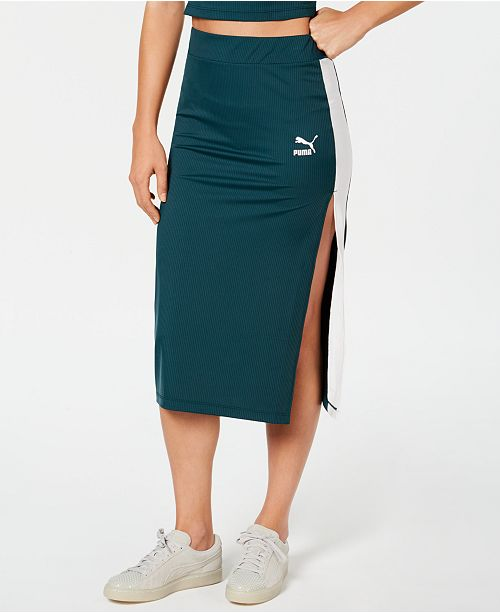 5cc0b0fe83 Puma Classics Ribbed Skirt & Reviews - Skirts - Women - Macy's