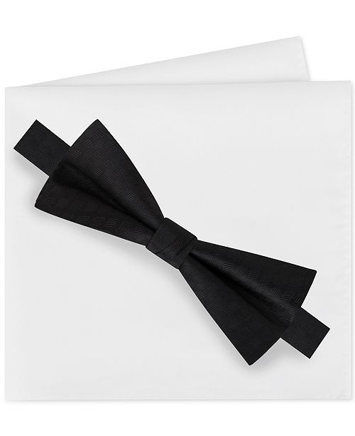 Calvin Klein Men's Bow Tie and Pocket Square Set