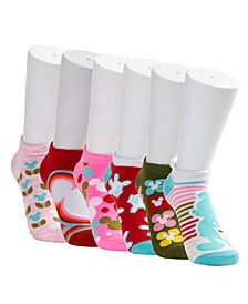 6-Pk. Mickey Mouse Geo-Print No-Show Socks