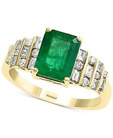 EFFY® Emerald (2-1/5 ct. t.w.) & Diamond (1/3 ct. t.w.) Ring in 14k Gold