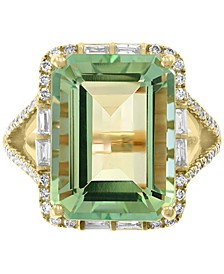 EFFY® Green Quartz (10-7/8 ct. t.w.) & Diamond (5/8 ct. t.w.) in 14k Gold