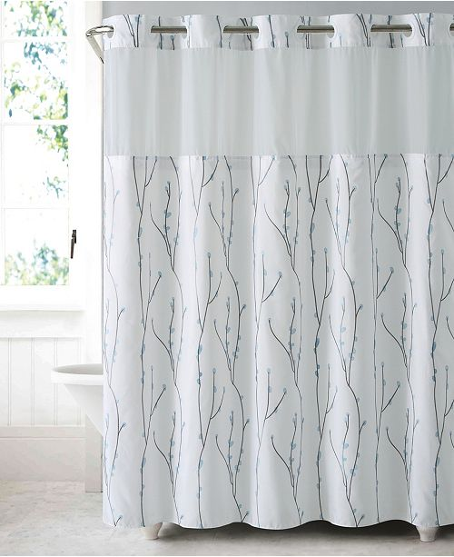 Hookless Cherry Bloom 3 In 1 Shower Curtain