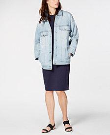 Eileen Fisher Oversized Denim Jacket & Shift Dress