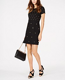 Studded Sheath Dress, Regular & Petite