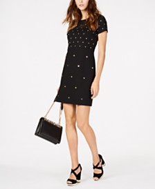 MICHAEL Michael Kors Studded Sheath Dress, Regular & Petite