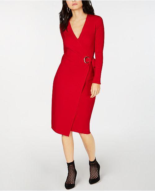 f29a3002a05 ... INC International Concepts I.N.C. Wrap Sweater Dress