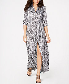 I.N.C. Full-Sweep Shirtdress, Created for Macy's