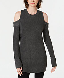 I.N.C. Cold-Shoulder Tunic Sweater, Created for Macy's
