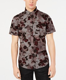 I.N.C. Men's Watercolor Camo Shirt, Created for Macy's