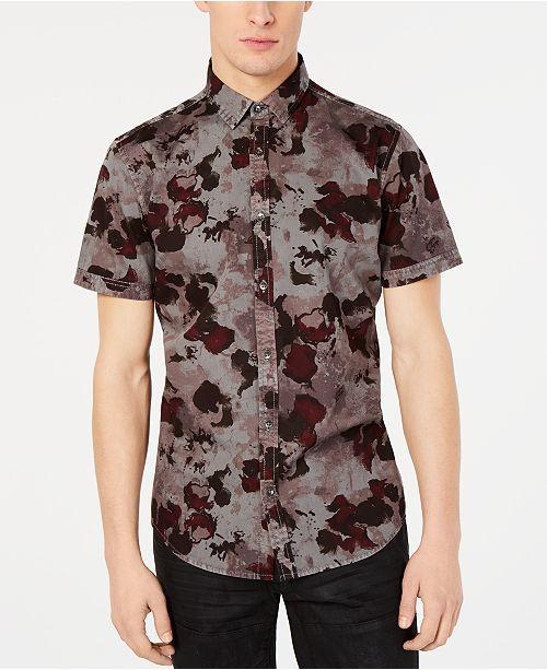INC International Concepts INC Men's Watercolor Camo Shirt, Created for Macy's