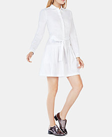 BCBGMAXAZRIA Cotton Mariela Belted Shirtdress