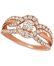 Nude Diamonds™ Openwork Ring (9/10 ct. t.w.) in 14k Rose Gold