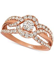 Nude Diamonds™ Openwork Ring (9/10 ct. t.w.) in 14k Rose Gold
