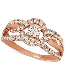 Le Vian® Nude Diamonds™ Openwork Ring (9/10 ct. t.w.) in 14k Rose Gold