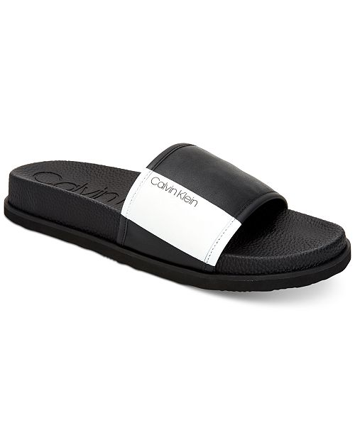 c0a51b1c420 Calvin Klein Calvin Men s Mackee Slide Sandals   Reviews - All Men s ...