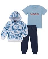 4c81cb124 Calvin Klein Little Boys 3-Pc. Full-Zip Hoodie, T-Shirt