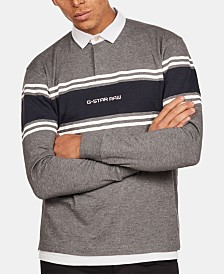 G-Star RAW Mens Logo Rugby Polo, Created for Macy's