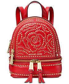 MICHAEL Michael Kors Rhea Mini Zip Studded Convertible Backpack