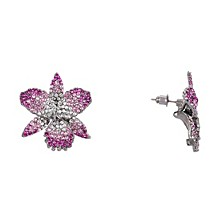 Swarovski Pave Large Orchid Earring