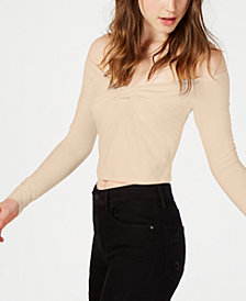 Material Girl Juniors' Off-The-Shoulder Top, Created for Macy's