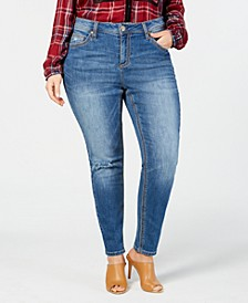 Trendy Plus Size Rocker Skinny Jeans