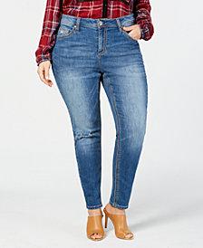 Seven7 Jeans Trendy Plus Size Rocker Skinny Jeans