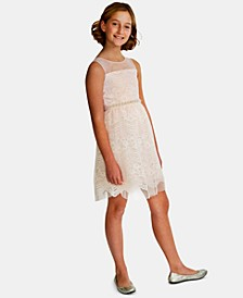 Big Girls Embellished Lace Dress