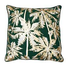 "Pokki Gold Foil Printed Palm Tree Pillow, 20"" x 20"""