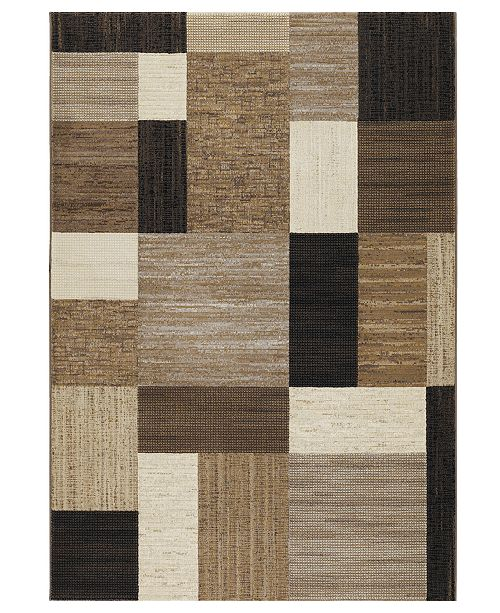 "Couristan Area Rug, Taylor Geometrics Brown-Multi 7'10"" x 11'2"""