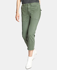 Sanctuary Cropped Patch-Pocket Chino Pants