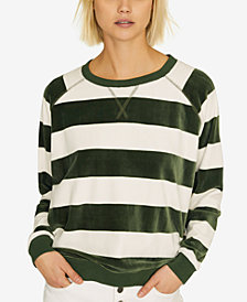 Sanctuary La Brea Striped Velour Sweatshirt