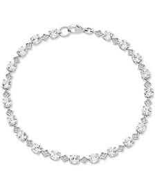 Swarovski Zirconia Link Bracelet in Sterling Silver