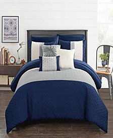 Osnat 10 Piece King Bed In a Bag Comforter Set