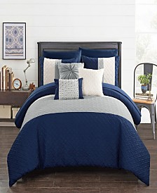 Chic Home Osnat 10-Pc. Bed In a Bag Comforter Sets