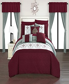 Chic Home Emily 20 Piece King Bed In a Bag Comforter Set