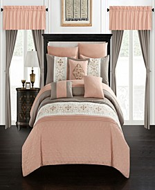 Emily 20 Piece Queen Bed In a Bag Comforter Set