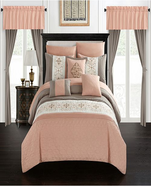 Chic Home Emily 20 Piece Queen Bed In a Bag Comforter Set