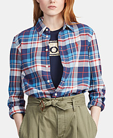 Polo Ralph Lauren Relaxed Fit Plaid Twill Cotton Shirt