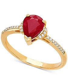 Certified Ruby (1-1/3 ct. t.w.) & Diamond Accent Ring in 14k Gold