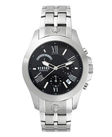 Versus Men's Chronograph Lion Extension Stainless Steel Bracelet Watch 44mm