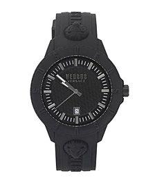 Versus Unisex Tokyo Black Silicone Strap Watch 43mm
