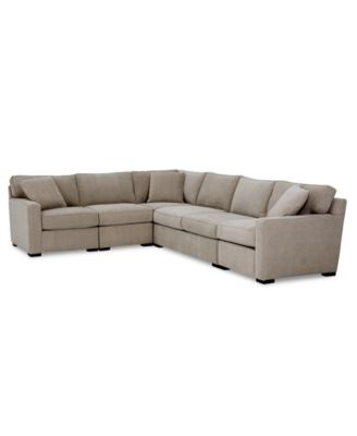 Radley 5-Pc. Fabric Sectional Sofa with Apartment Sofa with Corner Piece, Created for Macy's